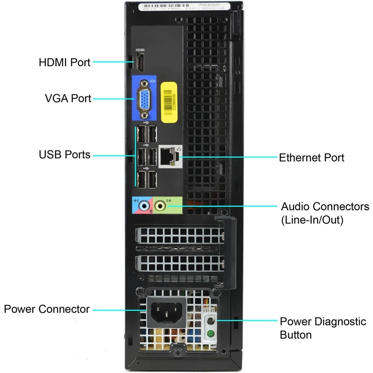 Dell Optiplex 3010 I5 3550 RAM 4GB SSD 128GB + HDD 500GB